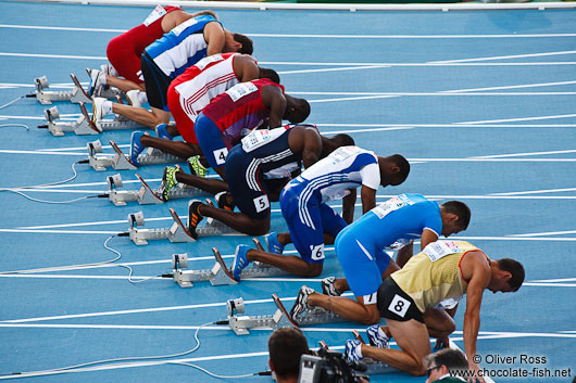 Start of the 100m Men�s Semi-Final