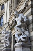 Travel photography:Heracles with Hyppolita (front) and Hydra (back) in Vienna�s Hofburg, Austria