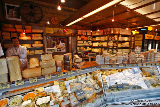 Vienna Naschmarkt cheese shop