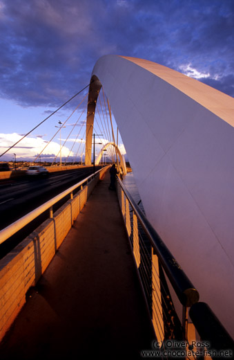 The President Juscelino Kubitscheck Bridge in Brasilia, by the Rio architect Alexandre Chan