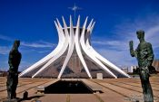 The Catedral Metropolitana in Brasilia, Brazil