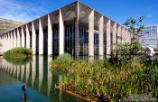 The Itamarati palace (Ministry of Foreign Affairs building) in Brasilia, by architect Oscar Niemeyer, Brazil