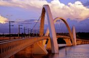 Travel photography:The President Juscelino Kubitscheck Bridge in Brasilia, by the Rio architect Alexandre Chan, Brazil