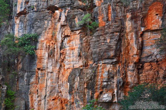 Cliff above the entrance to the Gruta da Lapa Doce near Len��is