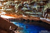 Travel photography:The blue grotto (Gruta Azul) near Len��is, Brazil