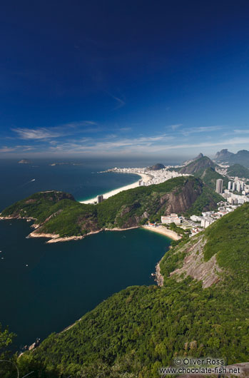 Panoramic view of Rio�s Copacabana district from the Sugar Loaf (P�o de A��car)