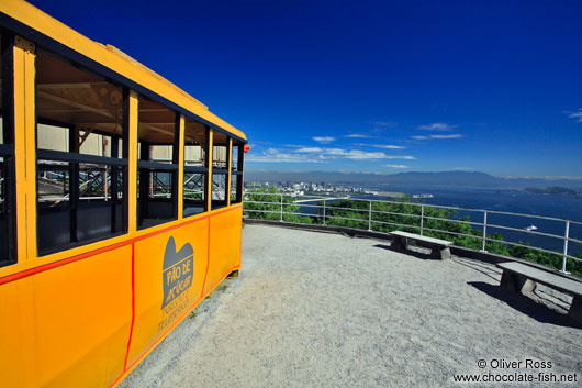 Old style gondola atop the Sugar Loaf (Pão de Açúcar)