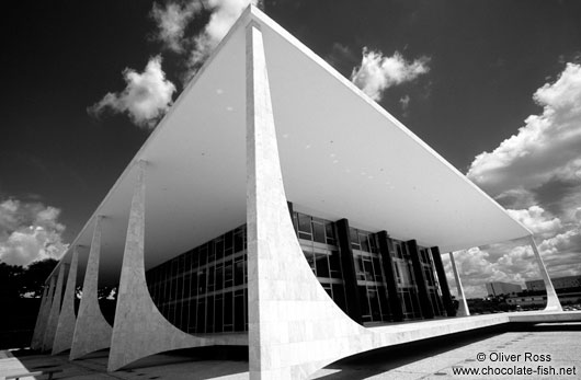 Brasilia Supreme court building by architects Oscar Niemeyer and Lúcio Costa