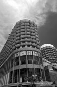 Travel photography:Building in Copacabana district in Rio de Janeiro, Brazil