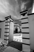 Travel photography:Doors of the Copacabana Fortress in Rio de Janeiro, Brazil