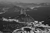 Travel photography:View of the Sugar Loaf (P�o de A��car) from the Corcovado in Rio de Janeiro, Brazil