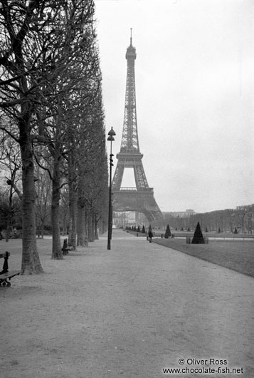 Eiffel Tower with park in Paris