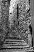 Travel photography:Staircase in Girona`s historical old town, Spain