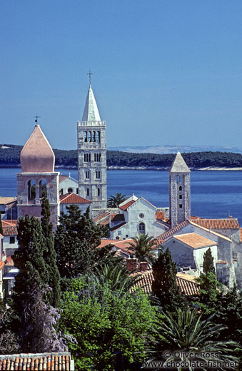Bell towers in Rab town
