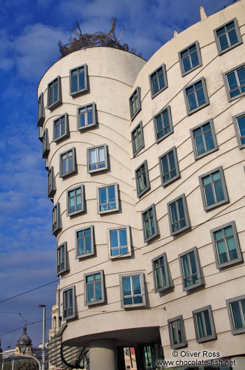 The `Dancing House� (Tanc�c� dům) by architect Frank Gehry
