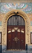 Travel photography:Prague door, Czech Republic