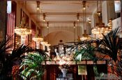 Travel photography:Art-nouveau cafe inside the `Representation House � (Obecn� dům), Czech Republic