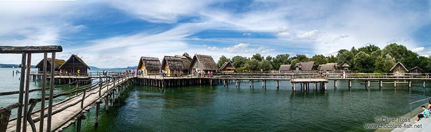 Neolithic stilt houses on the shores of Lake Constance