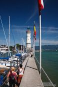 The lighthouse in Lindau , Germany