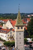 Travel photography:View of Mangen tower in Lindau, Germany