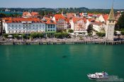 Travel photography:Aerial view of Lindau harbour, Germany