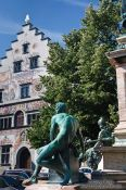 view of the Lindau town hall, Germany