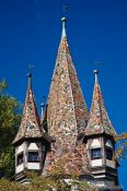Travel photography:Roof detail of the Rapunzel tower in Lindau , Germany