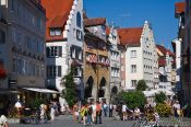 Travel photography:Maximilian street in Lindau , Germany