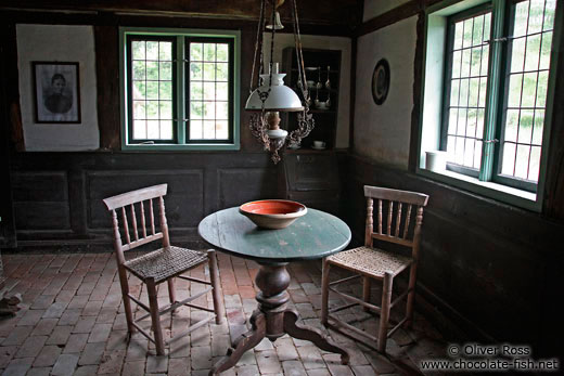 Table with chairs an 18th century farm house living room for 18th century farmhouse interiors