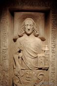 Travel photography:Stone Relief of Ludwig der Springer founder of the Wartburg Castle, Germany