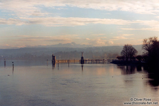 Lake Constance (Bodensee) with the Alps in the background