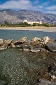 Travel photography:Frangocastello beach and castle, Grece