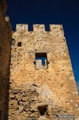 Travel photography:Frangocastellocastle tower, Grece