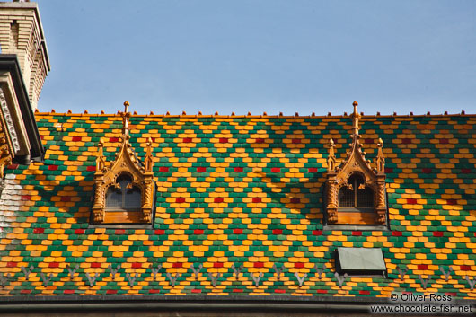 Roof detail of the Budapest market hall