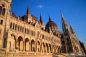 Budapest parliament at sunset , Hungary