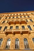 Travel photography:Budapest riverside facade , Hungary