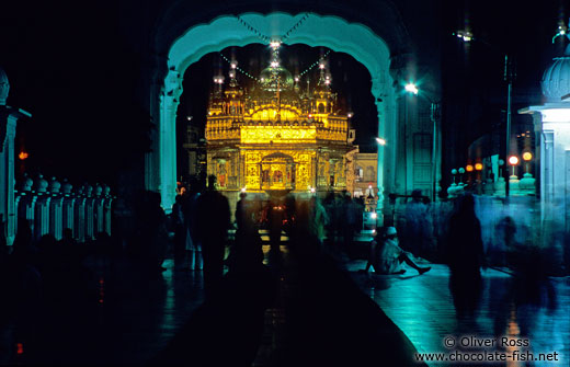 golden temple amritsar at night. The Golden Temple in Amritsar
