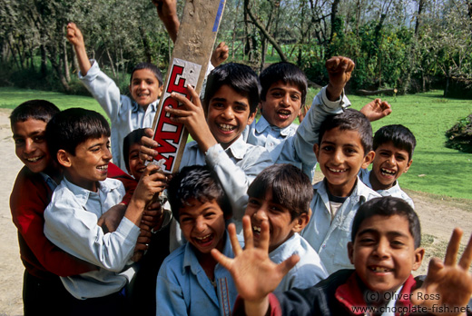 Srinagar kids competing for the best spot in front of the camera