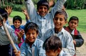 Srinagar kids competing for the best spot in front of the camera, India