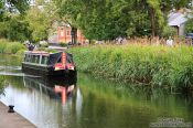 Travel photography:Boat travelling on the Dublin canal, Ireland