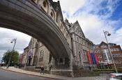 Travel photography:Overbridge at Dublin´s Christ Church Cathedral , Ireland
