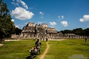 Travel photography:Temple de los Guerreros at the Chichen Itza archeological site, Mexico