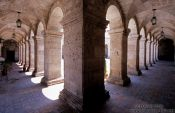 Travel photography:Cloister inside the Monasteiro Santa Catalina in Arequipa, Peru