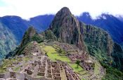 The old Inca city of Machu Picchu, Peru