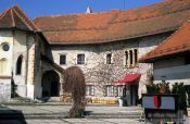 Travel photography:Bled castle courtyard, Slovenia