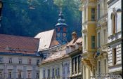 The old city in Lubljana, Slovenia