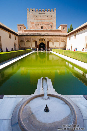 Spanien Granada/Patio de los Arrayanes (Court of the Myrtles), also called th...