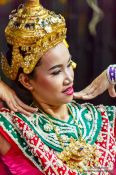 Travel photography:Girl performing a traditional Thai dance, Thailand