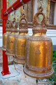 Travel photography:Prayer bells outside Bangkok�s Wat Arun , Thailand