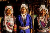 Travel photography:Akha women in Chiang Rai province, Thailand